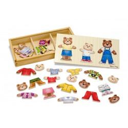 puzzle drewniane - rodzina misiów Melissa & Doug