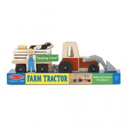 Drewniany traktor z przyczepą Melissa&Doug